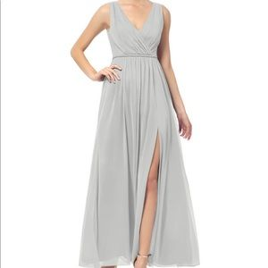 BRIDESMAID DRESS: Silver